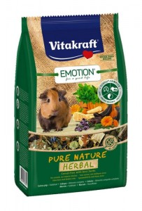 Vitakraft - Emotion Pure Nature Herbal 600g Karma dla Świnek Morskich