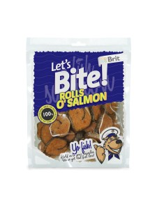 Brit - Let's Bite Dog Rolls o'Salmon 80g