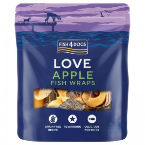 Fish4Dogs - Apple Fish Wraps 90g