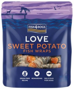 Fish4Dogs - Sweet Potato Fish Wraps 100g