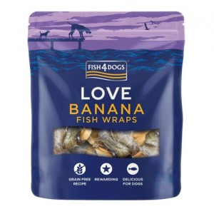 Fish4Dogs - Banana Fish Wraps 90g