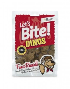 Brit - Let's Bite Dog Dinos 150g
