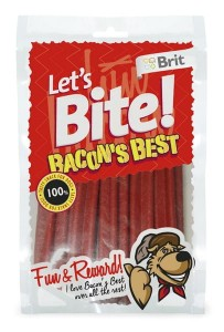 Brit - Let's Bite Dog Bacon's Best 105g