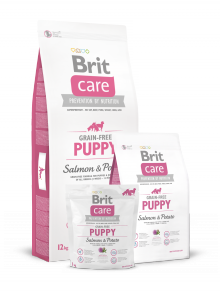 Brit -  Care Grain Free Puppy salmon & potato 1 kg