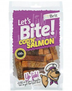 Brit - Let's Bite Dog  Cod'n'Salmon 80g